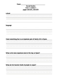 Harcourt Social Studies Gr.2 Unit 5 Notes Packet and Review