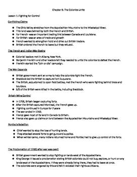 Harcourt Social Studies: U. S. History Chapter 8 Notes