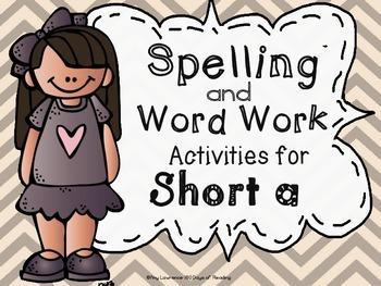 Short 'A' First Grade Spelling Centers!