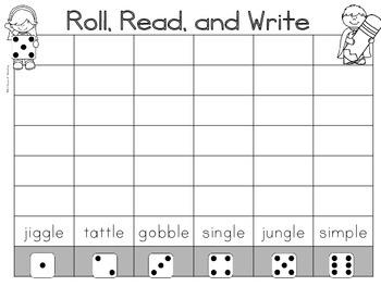 Consonant le Syllable Center Activities