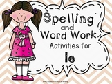 Consonant le Syllable Center Activities