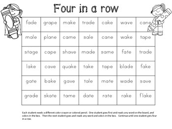 a-e  Long Vowel Spelling and Work Work Activities