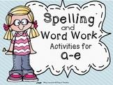 #freebiefriday Long Vowel Spelling and Work Work Activities