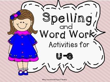 u-e Long Vowel Spelling and Work Work Activities