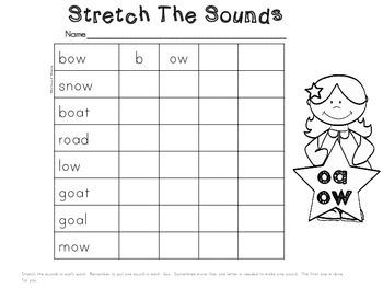 oa, ow Spelling Center Activities!