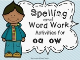 oa, ow Vowel Team Worksheets Games and Activities