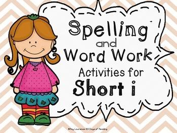 CVC Short i Spelling Center and Word Work Activities