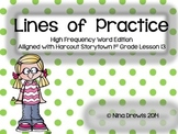 Harcourt StoryTown 1st Grade Lesson 13 Lines of Practice