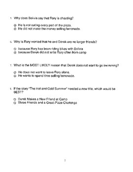 Harcourt StoryTown Adapted Weekly Lesson Tests, Grade 4, Lessons 1-5, 2-choice