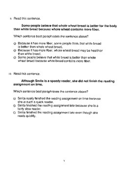 Harcourt StoryTown Adapted Weekly Lesson Tests, Grade 4, Lessons 26-30, 3-choice