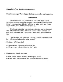 Harcourt StoryTown Adapted Weekly Lesson Tests, Grade 4, Lessons 6-10, 2-choice
