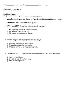 Harcourt StoryTown Adapted Weekly Lesson Tests, Grade 4, L