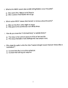 Harcourt StoryTown Adapted Weekly Lesson Tests, Grade 5, Lessons 16-20, 2-choice