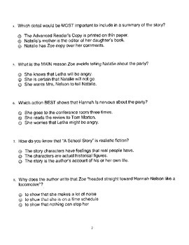 Harcourt StoryTown Adapted Weekly Lesson Tests, Grade 5, Lessons 16-20, 3-choice