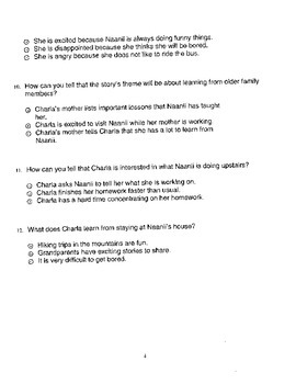 Harcourt StoryTown Adapted Weekly Lesson Tests, Grade 5, Lessons 6-10, 3-choice