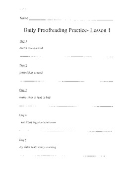 Harcourt StoryTown Daily Proofreading Grade 2 Lessons 1-30