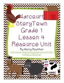 Harcourt StoryTown Grade 1 Lesson 4 Resource Unit