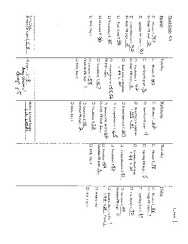 Harcourt StoryTown Grade 3 Lesson Plan Checklists