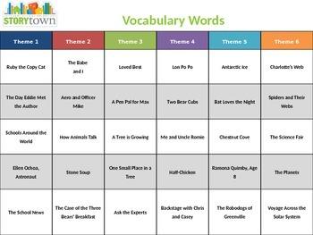 Harcourt StoryTown Vocabulary - 3rd Grade