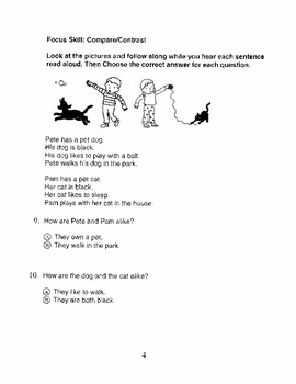 Harcourt Storytown Adapted Weekly Tests, Grade 1, Lessons 11-15