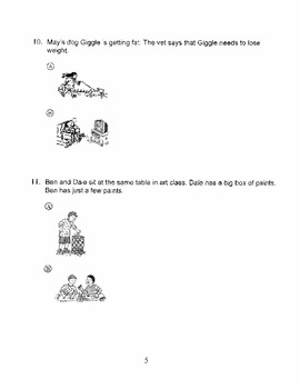 Harcourt Storytown Adapted Weekly Tests, Grade 1, Lessons 21-25