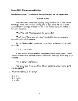 Harcourt Storytown Adapted Weekly Tests, Grade 3, Lessons 1-5 (three choices)