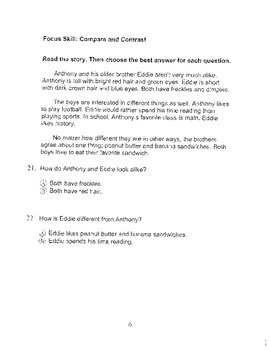 Harcourt Storytown Adapted Weekly Tests, Grade 3, Lessons 16-20 (two choices)