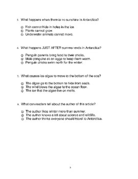 Harcourt Storytown Adapted Weekly Tests, Grade 3, Lessons 21-25 (three choices)