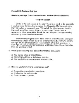 Harcourt Storytown Adapted Weekly Tests, Grade 3, Lessons 6-10 (three choices)
