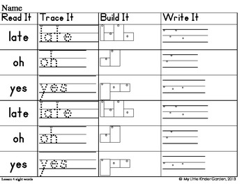 Read It, Trace It, Build It, Write It-Harcourt First Grade Sight Words Theme 2