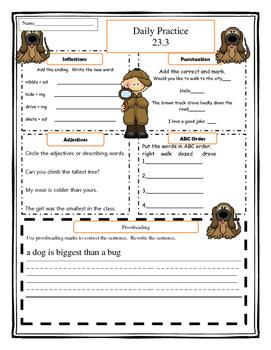 Harcourt Storytown Grade 1 Language Practice Lesson 23