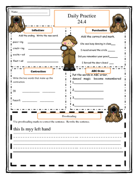Harcourt Storytown Grade 1 Language Practice Lesson 24