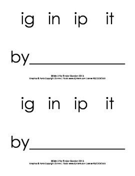 Harcourt Storytown K, lesson 14, ig, in, ip or it? book