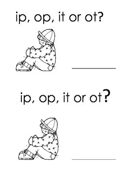 Harcourt Storytown K, lesson 17, ip op it ot?  word buiding book