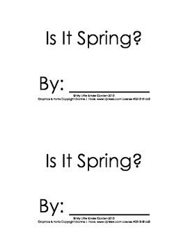 Harcourt Storytown K, lesson 25, Is It Spring?, hfw there, and