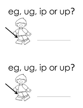 Harcourt Storytown K, lesson 28, eg, ug, ip or up? book
