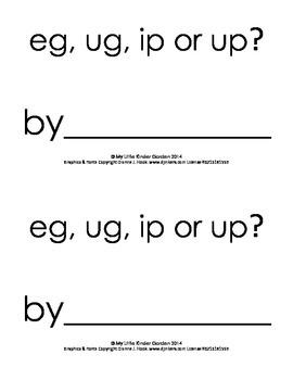 Harcourt Storytown K, lesson 28, eg, ug, ip or up? book