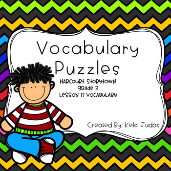 Harcourt Storytown Lesson 17 Vocabulary Puzzles