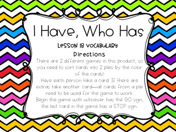 Storytown Lesson 18 Vocabulary Game