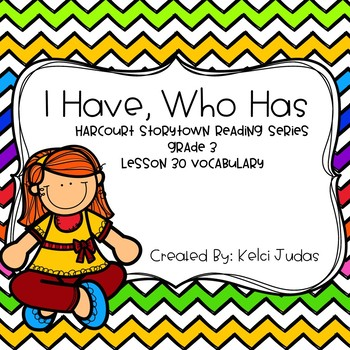 Harcourt Storytown Lesson 30 Vocabulary Game