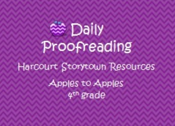 Harcourt Storytown Resource: Daily Proofreading