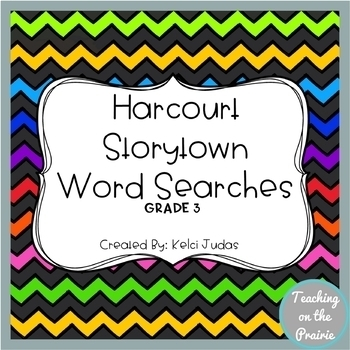 Storytown Vocabulary Word Searches