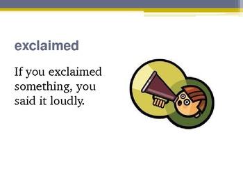 Harcourt Storytown's Robust Vocabulary Slides Grade 3 Lesson 19