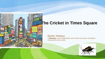 Harcourt The Cricket in Times Square Vocabulary & Focus Skill Power Point