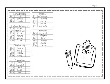 Harcourt® Trophies 1st Grade High Frequency Word Checklist