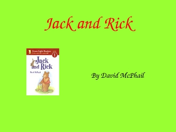 Harcourt Trophies 1st Grade Jack and Rick Powerpoint