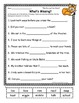 Harcourt Trophies GRADE 1 Sentence FILL-INS ~ Whole Year