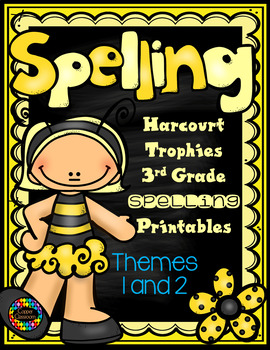 Harcourt Trophies 3rd Grade Spelling Supplement Themes 1 and 2