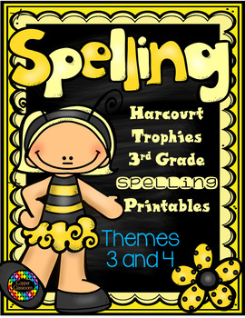 Harcourt Trophies 3rd Grade Spelling Supplement Themes 3 and 4