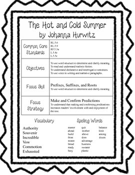 Harcourt Trophies 5th Grade information sheets and common core sheets